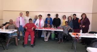 Senior gathering members